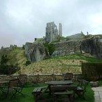 Tea Room garden overlooking the castle