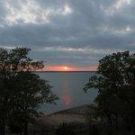 sunset from the gazebo
