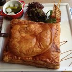puff pastry with bovonne cheese