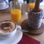Simple and delicious breakfast at Chimney Cake London