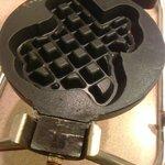 Texas-shaped waffle maker at Inn of the Hills, Kerrville TX