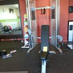 In the fitness room