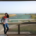 view of sea & estuary from balcony