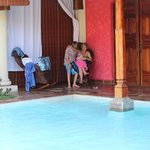 Pool are of Hotel Casa Fel Consulado