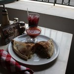 Calzone and Sangria