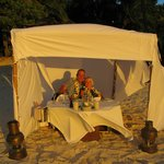 Enjoying a private bedouin at Pacific Resort Aitutaki