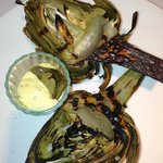 Grilled Artichokes with stem