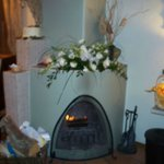 elegant in-room fire place