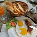 Excellent breakfast for about 150 baht