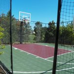 Half basketball court.