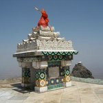 CLOSE UP OF DATTAREYA TEMPLE GIRNAR HILLS JUNAGADH GUJARAT