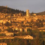 Assisi with evening sun