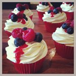Berry Berry cupcakes