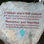Lovely inscription outside the museum.
