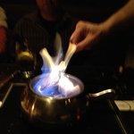 Flaming Fondue