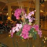 flowers in he lobby
