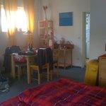 open space zona pranzo e letto; cucinotto separato, bagno privato, disimpegno e ripostiglio