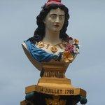 Buste de Marianne à Pointe Noire