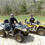 Angie and RJ with our bods on quads