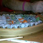 Sushi boat. Dont try this at home kids.