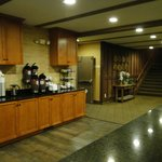 Beverage area in the Lobby