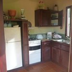 the kitchen in upper apartment