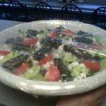 jumbo Greek salad. with homemade dressing.