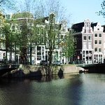 Singel Canal with B&B at Daytime