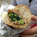 Roast Pork and Broccoli Rabe Sandwich from Angelo and Josephine's