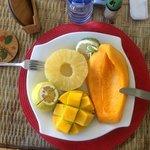 the fresh fruit plate