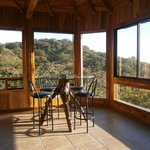 Rivendell treehouse....large living area with beautiful views of the Nicoya Penninsula.