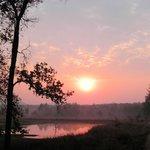 Early safari sunrise at 6AM
