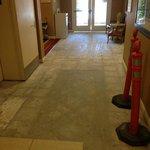 Remodeling in lobby 4/20/13