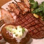 Steak & Grilled Shrimp