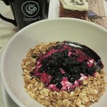 Yogurt with Blueberries and Granola; Carrot Cake