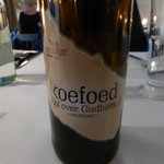 A bottle of their own brewed beer - excellent, best beer we had in Denmark!