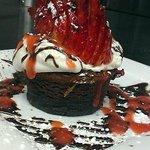 Toasted Glazed Stawberries Chocolate Torte