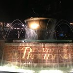 Fountain across street - lots of dining options