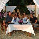 private beach dinner on the beach at The Centara Grand.
