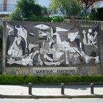 "Ceramic rendition of Pablo Picasso's ""Gernika"" in Guernika"