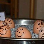 Los huevos cocidos del desayuno