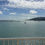 View from balcony out to Hayman Island