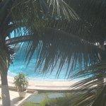 vista da piscina desde o apartamento