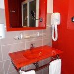Amazing RED glass washbasin.
