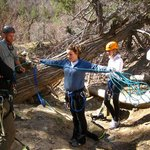 learning how to measure out rope for a repel