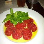 Beef carpaccio. The best EVER!