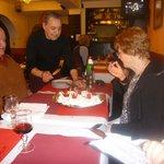 The Damas Creme Birthday cake