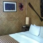 tribal style bedroom- nice touch