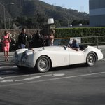 Jay leno leaving the taping in his jag