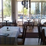 Restaurant, garden area